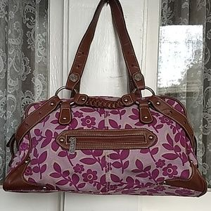 Levi's Purple Floral Handbag Purse Shoulder Bag